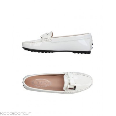 TOD'S Loafers - varnished effect buckle solid colour flat rubber nubbed sole round toeline - Womens Loafers 11398896FP
